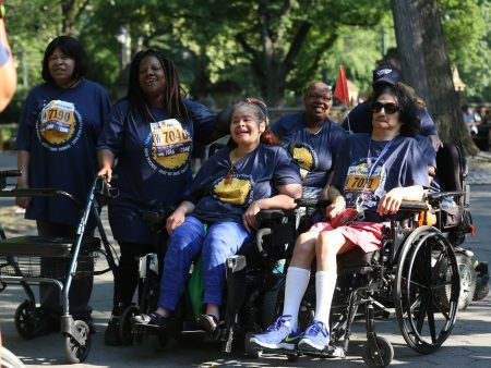 Team UCP at the 14th Annual Achilles Hope and Possibility race, Central Park.  (June 26, 2016)  Photo by Bruce Gilbert