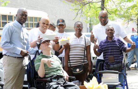 Adapt Community Network community gardening on West 154th Street in Harlem