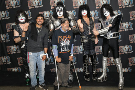 He Rocked and Rolled All Night, and Met His Favorite Band, KISS!